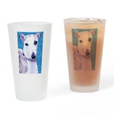 Whippet Head Drinking Glass