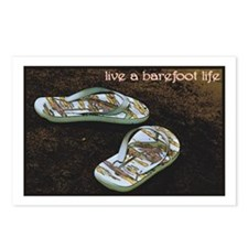 Live a Barefoot Life Postcards (Package of 8)