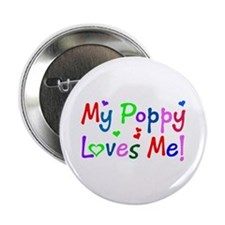 My Poppy Loves Me (des. #1) Button