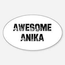 Awesome Anika Oval Decal