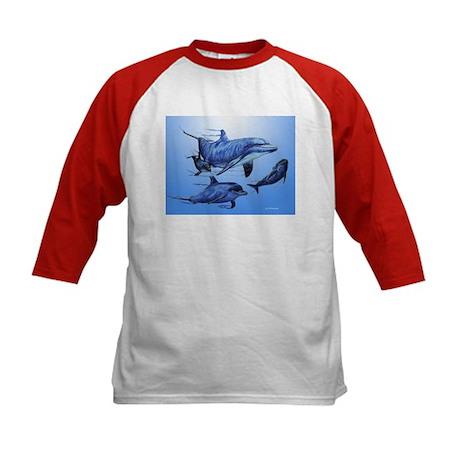 Dolphin Family Kids Baseball Jersey