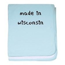 made in wisconsin baby blanket