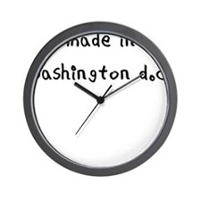 made in washington dc Wall Clock