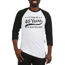 Funny 40th Birthday Baseball Jersey
