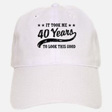Funny 40th Birthday Baseball Baseball Cap