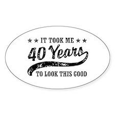 Funny 40th Birthday Bumper Stickers