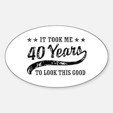 Funny 40th Birthday Decal