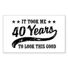 Funny 40th Birthday Decal