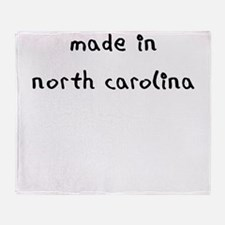 made in north carolina Throw Blanket