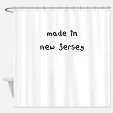 made in new jersey Shower Curtain