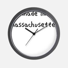 made in massachusettes Wall Clock