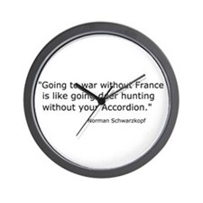 French Bash Wall Clock