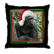 Helaine's Gorilla Xmas Throw Pillow