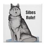 B&W-C Sibes Rule Tile Coaster