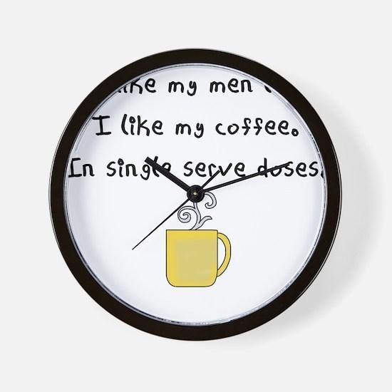 i like my men like i like my coffee Wall Clock