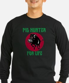 Pig hunter for life Long Sleeve T-Shirt