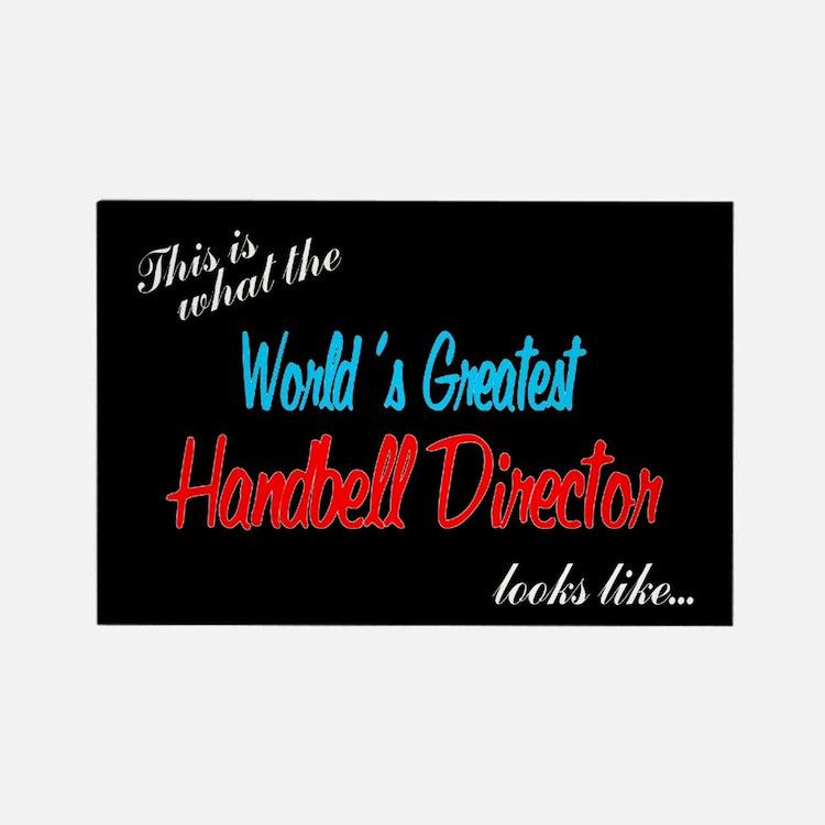 World's Greatest Director Black Rectangle Magnet