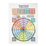 Trigonometry unit circle 5x7 Rugs