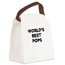 Worlds Best Pops Canvas Lunch Bag