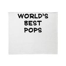 Worlds Best Pops Throw Blanket