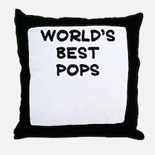 Worlds Best Pops Throw Pillow