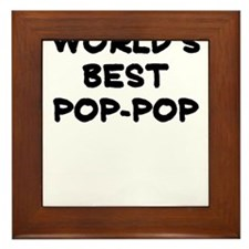 Worlds Best Pop Pop Framed Tile