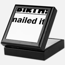 BIRTH Nailed It Keepsake Box