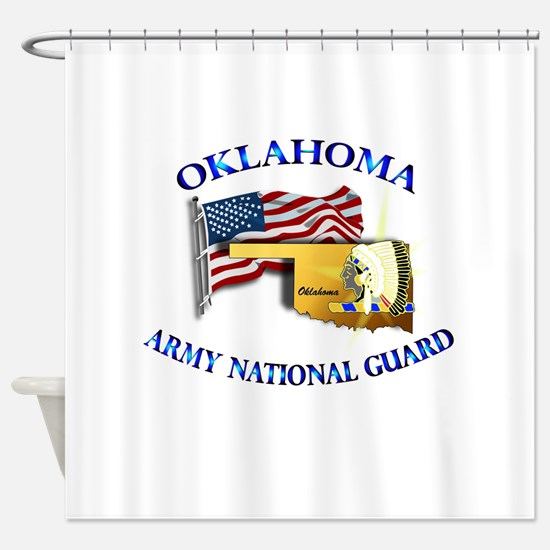 Army National Guard - OKLAHOMA w Flag Shower Curta