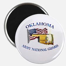 "Army National Guard - OKLAHOMA w Flag 2.25"" Magnet"