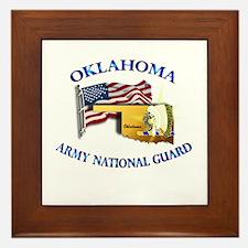 Army National Guard - OKLAHOMA w Flag Framed Tile