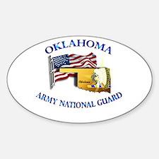 Army National Guard - OKLAHOMA w Flag Decal