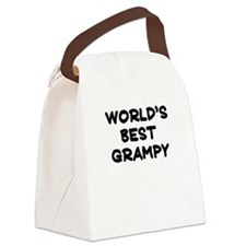 Worlds Best Grampy Canvas Lunch Bag