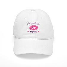 Grandma Of Five Baseball Cap