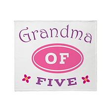 Grandma Of Five Throw Blanket