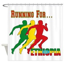 Ethiopia Running Shower Curtain
