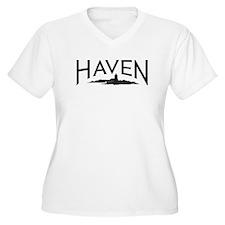 Haven logo (black) Plus Size T-Shirt