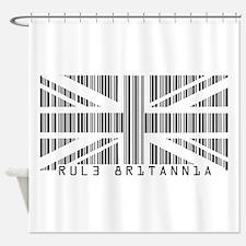 Rule Britannia barcode Shower Curtain