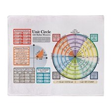Unit Circle with Radians Throw Blanket