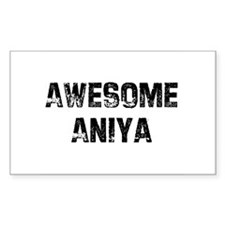 Awesome Aniya Rectangle Decal