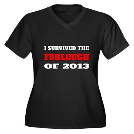 I survived the Furlough of 2013 Plus Size T-Shirt