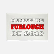 I survived the Furlough of 2013 Rectangle Magnet