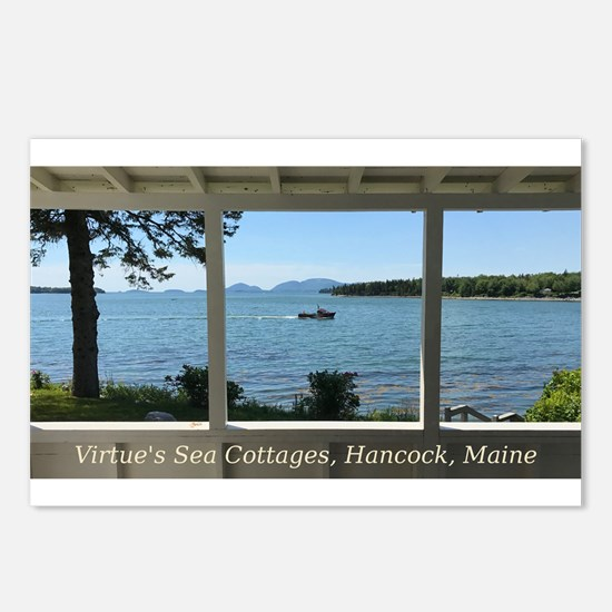 Virtue's Sea Cottages Postcards (package Of 8)