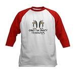 Crazy Penguins Kids Baseball Jersey