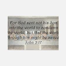 John 3:17 Rectangle Magnet