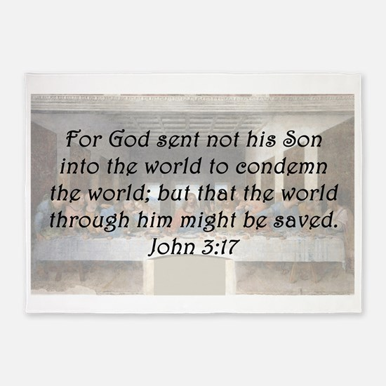 John 3:17 5'x7'Area Rug