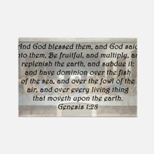 Genesis 1:28 Rectangle Magnet