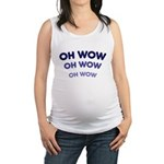 FIN-oh-wow.png Maternity Tank Top