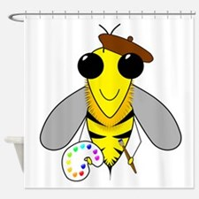 Painter Bee Shower Curtain