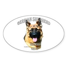 GSD 3 Oval Decal