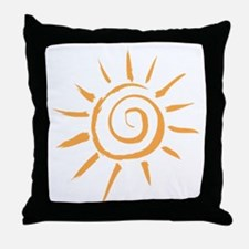 Spiral Sun Throw Pillow